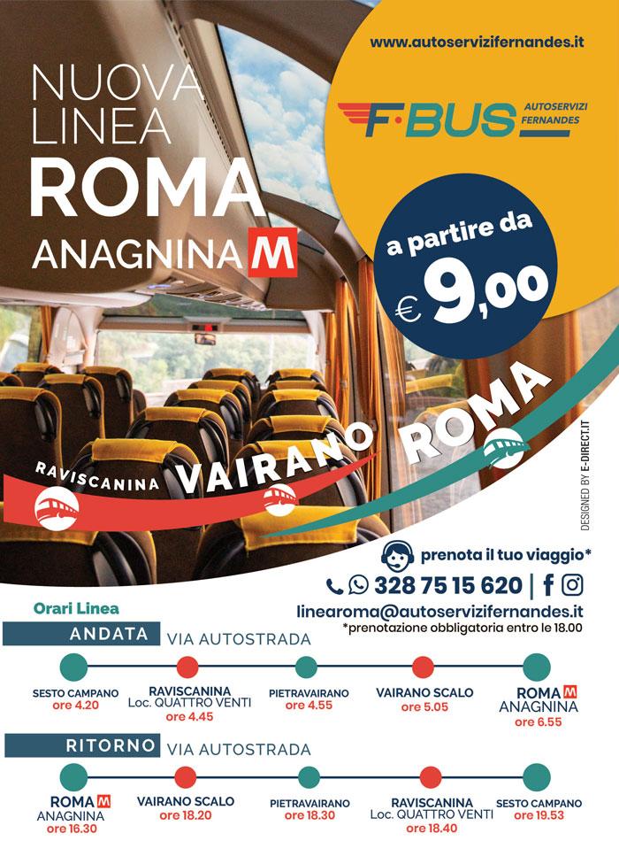 Linea Bus Vairano–Roma - Autoservizi Fernandes